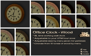 ~SC~ Office Clock - Wood